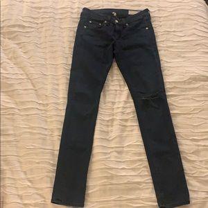 Rag and Bone dark wash skinny jean